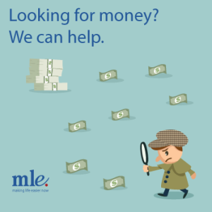 Man looking for money